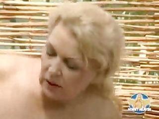 blonde german mother with marangos fucking
