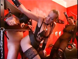 female-dominator uses a chap for her joy