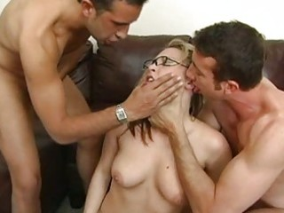 breathtaking breasty golden-haired does oral-job