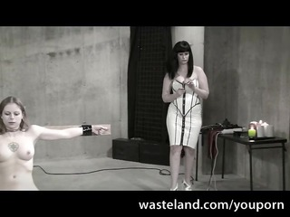 the white female-dominator - femdom lezdom scene