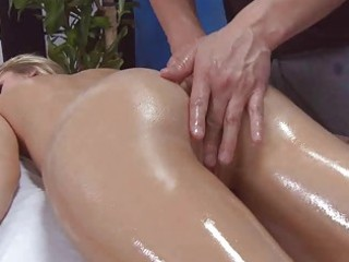 shy golden-haired acquires an wazoo massage