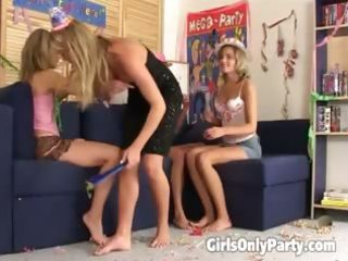 sweet lesbos having a foursome