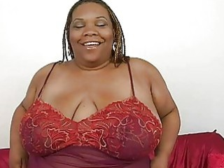 plump swarthy momma with biggest bosom plays with