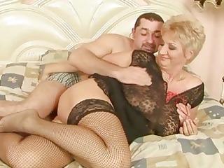 grandma enjoys fine sex with her boyfriend