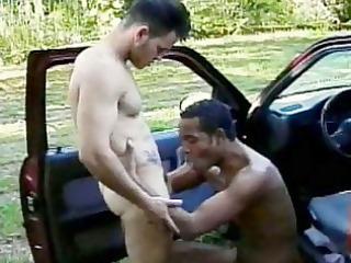 darksome skinned twink andre acquires dark booty