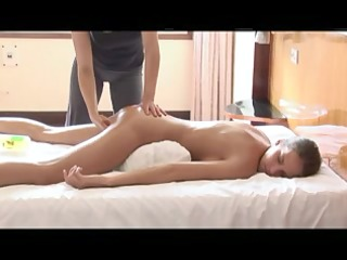 hot massage on bad
