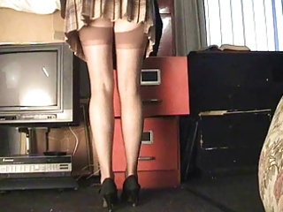 secretary nylons upskirt
