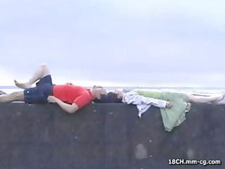 slutty campers at the beach fuck then a legal age
