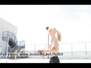 jayde _ dilettante blond playing outdoor and