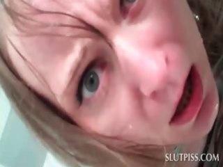 bound up sex serf receives a bowl of void urine