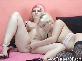 tattooed emo beauties licking every others bawdy