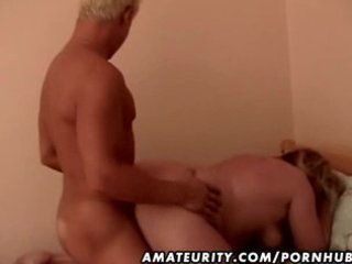 chubby non-professional aged wife drilled by a