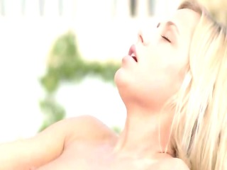 vacation dream with delightful blond