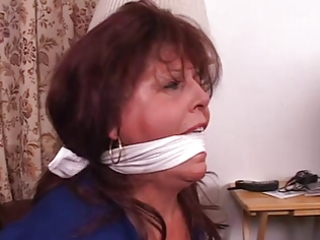 floozy boss fastened up gagged