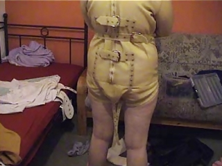 alexa inserted into the latex straitjacket