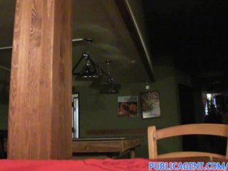 publicagent golden-haired cafe waitress takes my