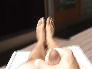 my feet during the time that i cum