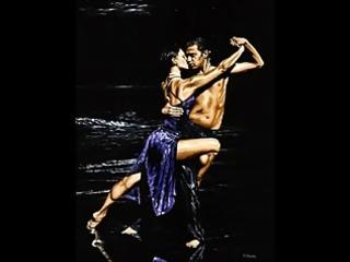 the tango dancers - paintings of richard juvenile