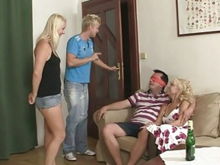 mommy seduces his gf into three-some