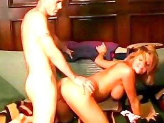 breathtaking short haired blond receives shagged