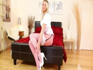 hot pink nylon nylons and good sweetheart