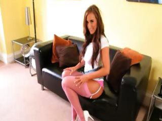 pink hose undress on the leather