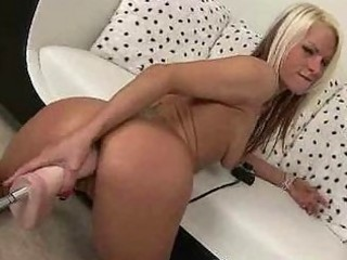 Celeste fucked hard by a machine
