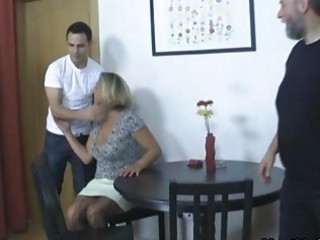 Her BF drunk and she fucks his parents