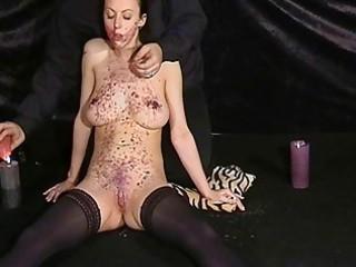 english pornstars way-out facial hotwaxing