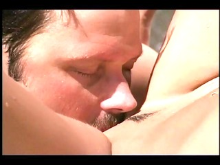marvelous brunette hair butt screwed outdoors -