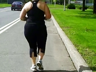 large dolly jogging beneath the sun