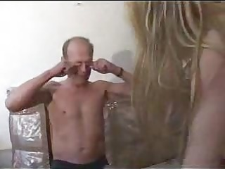 impure old chap fuck a youthful golden-haired by