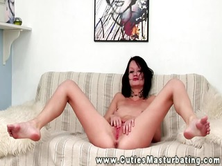 solo masturbation of playgirl with marital-device