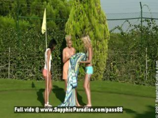 debby and jenny and aneta breathtaking lesbo pair