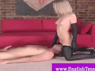 female doxy dominated by dominant-bitch in