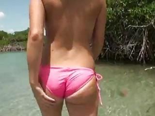 hot gf in bikini boat group-sex and facial