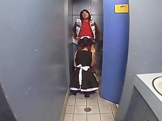 hawt waitress sucks away the ache