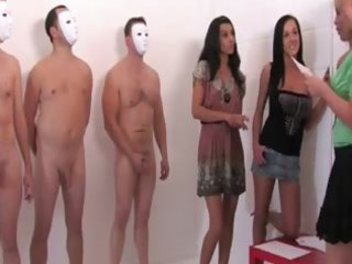 hotties having masked guy jerk themselves and aid