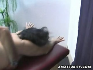 old dilettante couple home action with cum on