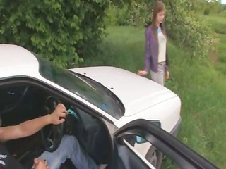 06yo estonian angel drilled on the car