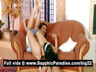 carnal brunette hair lesbos fingering and licking