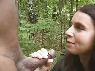 hotwife engulfing darksome in the woods