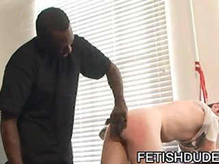 Black Dude Hot Boi Spanking His White Ass Bondage