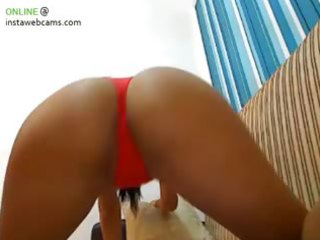 tanned sweetheart in red strap part 6