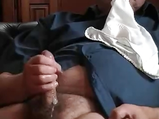 old chunky fellow jerking