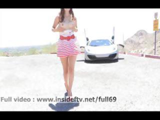 laleh _ non-professional chick walking stripped