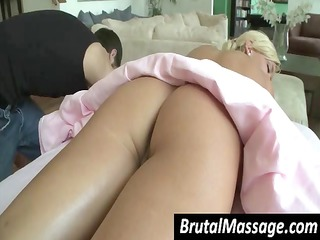sexy golden-haired is getting a valuable full