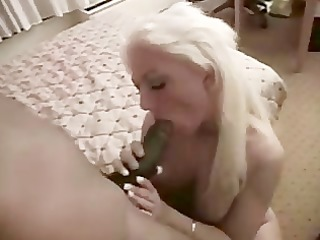 electric golden-haired wife likes large dark