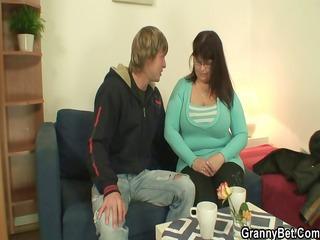 he is drills her corpulent old wet crack