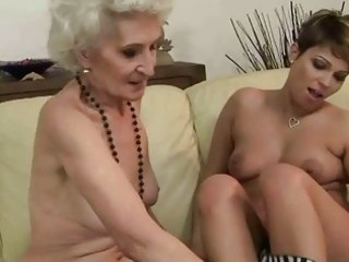 old vs youthful lesbian babes